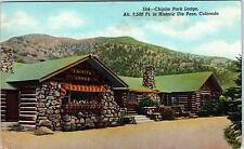CHIPITA PARK, CO Colorado   Chapita Park  LODGE & PO   c1950s  Roadside Postcard