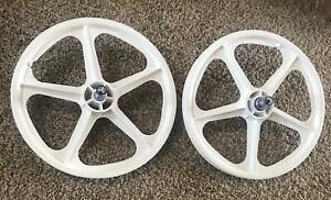 """Skyway Tuff Wheel ll 20"""" White BMX Wheelsetfor freewheel Brand New ** Tuff 2"""