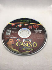 Bicycle Casino -Includes Texas Hold 'Em - Game Disc Only -Tested - Original Xbox