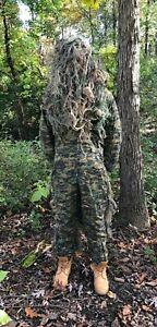 String Ghillie Suit w/Marine BDU Fatigue Jumpsuit
