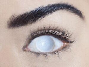 BLIND WHITE- Cosmetic Eye Contacts - Australian Retailer