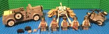 Custom Lego WW2 Waffen SS Horsh, Pak36, motorcyle with side car and soldiers