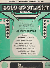 Solo Spotlight for piano Schaum 7 solos piano sheet music 15 pages