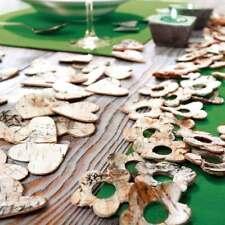 80 Stück Dekoherz Blume Streudeko Birkenrinde Holz Tischdeko Bastelbedarf