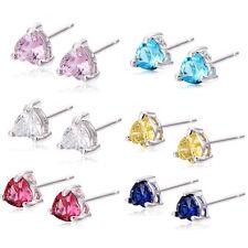 Kids Girls Safety Baby children Stud Earrings Silver Plated Heart Earings lot