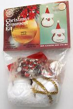 Vtg Walco Ornament Kit Santa Claus Head Sequin Bead Foam Pin Hat Face 3434 Xmas