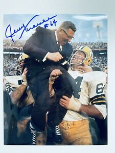 Jerry Kramer signed 8x10 Color Photo with COA Hall Of Famer