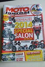 MOTO JOURNAL N°2072 DUCATI MONSTER 1200 KAWASAKI Z1000 HONDA F6B ★ SALON 2014 ★
