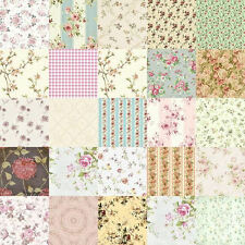 Dollhouse Miniature Patchwork Quilt Computer Printed Fabric Vintage Pink Green
