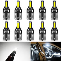 10x ampoule veilleuse led W5W T10 auto moto 12V éclairage plaque blanc Xenon