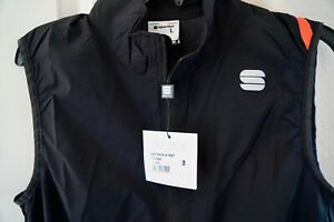 SPORTFUL MENS BLACK HOT PACK 6 CYCLING VEST  SIZE L. NEW W/TAGS. RETAILS:  $90