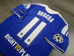 [Retro] - Chelsea Home 2011/12 Winner UCL 2012 11 DROGBA with Patches Size L