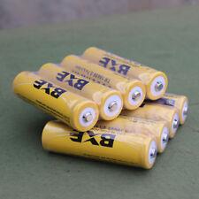 8pcs 9800mAh 3.7V 18650 Yellow Rechargeable Li-ion Battery For Flashlight WH