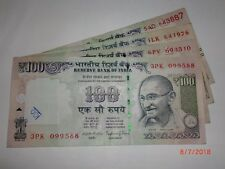 India Paper Money - 4 X Rs 100/- Old 'Mg' Notes - Raghuram G.Rajan - 2015# E1vii