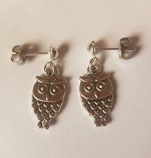 Tibetan Silver owl Stud Earring