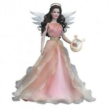 Franklin Mint Le Angel Of Hope Doll with Gold Tipped Wings, Harp & Halo Nib