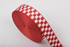 Assorted City of London Police Cap Ribbon - Red & White - Diced