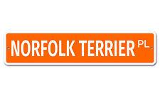 """6871 Ss Norfolk Terrier 4"""" x 18"""" Novelty Street Sign Aluminum"""