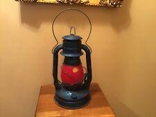 Vintage Dietz No 8 Air Pilot Kerosene Lantern With Red Globe Original Sticker