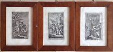 GRAVELOT & EISEN Graveur VIDAL Suite 3 gravures anciennes supposées 18° XVIIIe