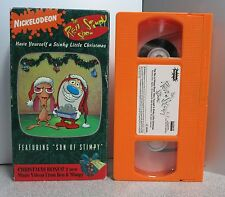 REN & STIMPY SHOW VHS HAVE YOURSELF A STINKY LITTLE CHRISTMAS NICKELODEON