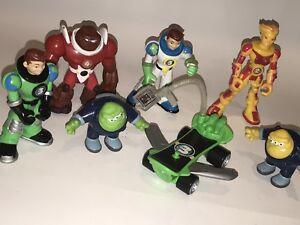 FISHER PRICE 2006 Lot of PLANET HEROES Action Figures Toys Vehicle Earth Ace +