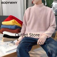 Winter Men's Warm Cashmere Woolen Pullover Casual Sweater  Turtleneck