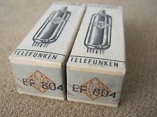 2x EF804  audio tubes  TELEFUNKEN   -  NOS  -  SEALED -  EF 804
