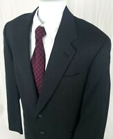 Austin Reed Blazer Men's 40R Black 2-Button Pin Striped Sport Coat Suit Jacket