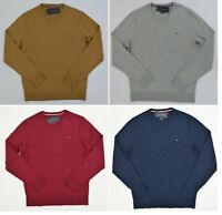 NWT Men's Tommy Hilfiger V-Neck Pima Cotton Cashmere Pullover Sweater