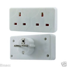 2 Way European Travel Electrical Plug Socket Adaptor Eu 2 pin to Double UK 3 pin