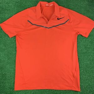 NIKE TIGER WOODS TW VELOCITY MAX GOLF POLO SHIRT - SIZE LARGE 833163-852