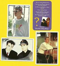 Pet Shop Boys Fab Card Collection  Neil Tennant Chris Lowe B West End Girls