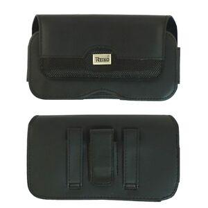 Reiko Samsung S8+S9+Note 8 Large Leather Mix Pouch Black Clip Wallet Case
