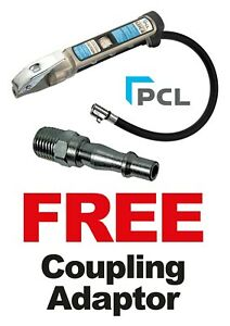 """PCL MK4 Tyre Inflator 21"""" Clip On Hose With A Free Coupling New Style AFG4H04"""