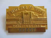 vintage 1955 Texas State Fair Show Guest Employee ID Badge Pin