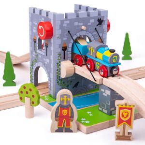 Bigjigs Rail Wooden Drawbridge Train Set Railway Accessories