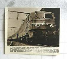 1954 Record-breaking Train French Express Cc 7121 To 150 Mph