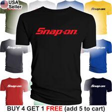 Snap-On T-Shirt Tools Mechanic Shop Auto Parts Racing Van Repair Power Car Men