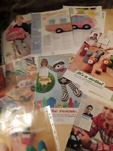 Job lot of  toys knitting patterns  only