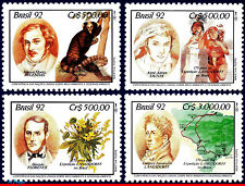 2363-66 BRAZIL 1992 UNITED NATIONS,EXHIBITION,DEVELOPMENT,FLOWERS,MI#2472-75,MNH