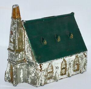 Vintage Cast Iron Church Still Bank