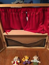 Wood Table Top Theater Finger Puppet Stage with Puppets Teacher Play Therapy