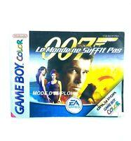 Notice jeu Nintendo Game Boy Color James bond 007 le monde ne suffit pas PAL FRA