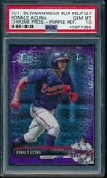 PSA 10 RONALD ACUNA JR. 2017 Bowman Chrome Mega Box PURPLE REFRACTOR RC GEM MINT