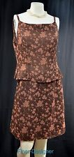 Barami Couture floral Dress Suit 2pc short pencil skirt tank cami SZ 10 M VTG 80
