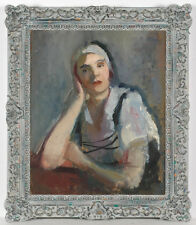 """Frederick Serger """"Portrait of a Polish girl"""", oil on canvas, late 1930s"""