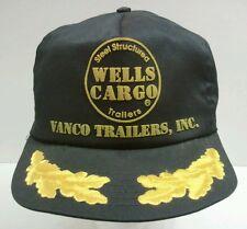 Vintage Wells Cargo Steel Trailers  Snapback Trucker Hat Cap Delbert Made in USA