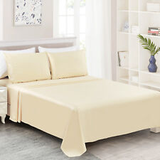 New King size 4pc Sheet Set 100%Egyptian Cotton 400Thread Count,Ultra Soft Beige
