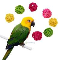 10Pcs Pet Parrot Rattan Hanging Ball Toys Bird Chewing Cage Active Decor Supply